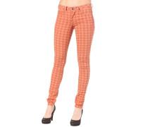 Falda Print - Stoffhose für Damen - Orange