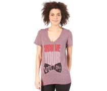 Show Me Your V-Neck S/S T-Shirt - T-Shirt für Damen - Lila