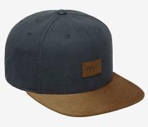 Suede 6-PanelSnapback Cap Blau