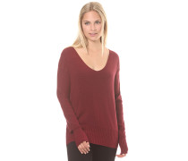 Basic V-Neck Jumper - Strickpullover für Damen - Rot