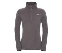 100 Glacier 1/4 Zip - Sweatshirt für Damen - Grau