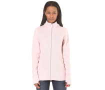 Long Zip - Strickjacke für Damen - Pink
