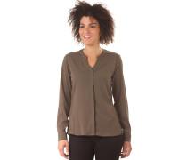 Queens Tunika Shirt - Bluse für Damen - Braun