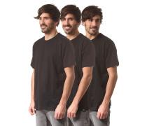 3 Pack Pocket - T-Shirt für Herren - Schwarz
