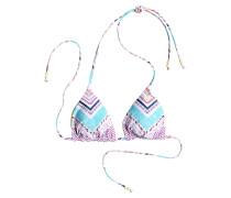 Reversible Tiki - Bikini Oberteil für Damen - Mehrfarbig