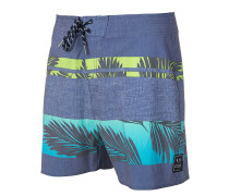 "Retro Palm Tree 16"" - Boardshorts - Blau"