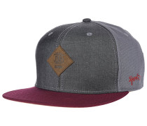 6P Mix Canvas Snapback Cap - Grau