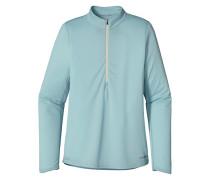 Fore Runner Zip Neck - Langarmshirt für Damen - Blau