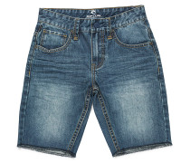 5 Pocket Denim Shorts - Blau