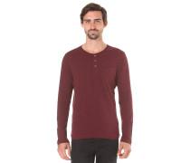 Jack's Base Henley - Langarmshirt für Herren - Rot