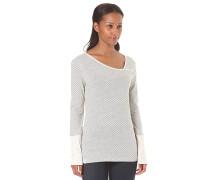 Asym Stripe 3 - Langarmshirt für Damen - Weiß