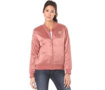 Pastel Satin Track Top - Trainingsjacke für Damen - Pink
