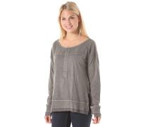 Its Chemistry Henley - Sweatshirt für Damen - Grau