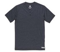 Basic Henley - T-Shirt für Herren - Grau
