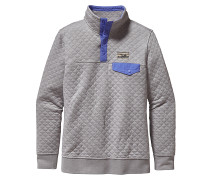 Cotton Quilt Snap-T - Sweatshirt für Damen - Grau