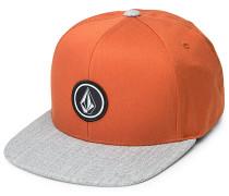 Quarter Snapback Cap - Orange