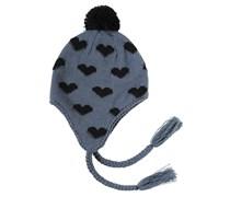 Hearts - Mütze für Damen - Schwarz