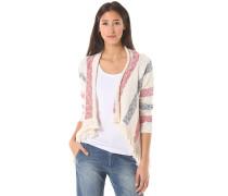 Striped - Strickjacke für Damen - Weiß