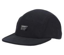 Menson Fleece Snapback Cap - Schwarz