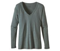 Necessity V-Neck - Langarmshirt für Damen - Grün