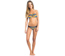 Tribal Myth Bandeau - Bikini Set für Damen - Schwarz