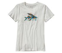 Isle Wild Flying Fish Cotton Crew - T-Shirt für Damen - Weiß
