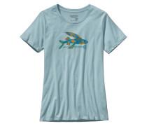 Isle Wild Flying Fish Cotton Crew - T-Shirt für Damen - Blau