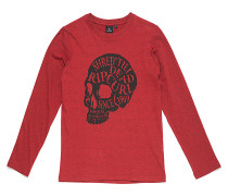 Head Skull - Langarmshirt für Jungs - Rot