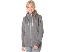 Cascara Fleece - Kapuzenjacke für Damen - Grau