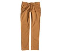 Worker Slim - Stoffhose für Jungs - Braun