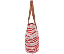 Straw Beach Bag - Tasche - Rot