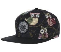 6P SB Crazy Pattern OwlsSnapback Cap Schwarz