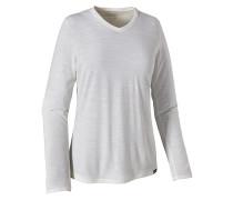 L/S Merino Daily V-Neck - T-Shirt für Damen - Grau