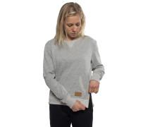 Zip Crew - Sweatshirt für Damen - Grau