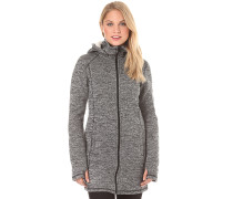 Hoodie - Mantel für Damen - Schwarz
