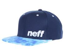 Daily Pattern Snapback Cap - Blau