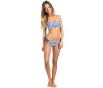 Panama Stripe Bandeau - Bikini Set für Damen - Blau