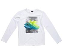 Satured Action Print - Langarmshirt für Jungs - Weiß