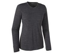 L/S Merino Daily V-Neck - Langarmshirt für Damen - Schwarz