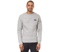 Gifford Striped Crew Neck - Sweatshirt - Grau