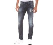 Anbass Back Zip - Jeans für Herren - Blau