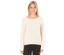 Crop - Strickpullover für Damen - Weiß