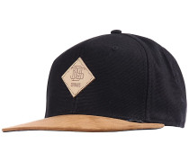 6P SB Light Canvas Snapback Cap - Schwarz