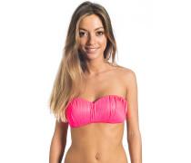 Love N Surf Pleated Bandeau - Bikini Oberteil für Damen - Pink