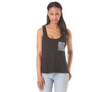Kaleidoscope Pocket - T-Shirt für Damen - Schwarz