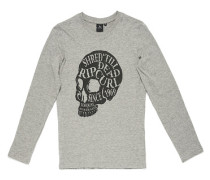 Head Skull - Langarmshirt für Jungs - Grau