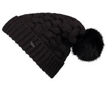 Nora Wool Alpaca Mix - Mütze für Damen - Schwarz