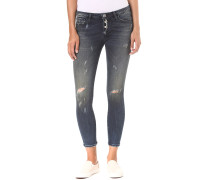 Midi - Button Fly - Jeans für Damen - Blau
