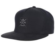 Stitch Snapback Cap - Schwarz