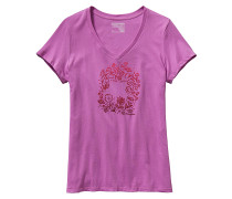Live Simply Homegrown Cotton V-Neck - T-Shirt für Damen - Lila